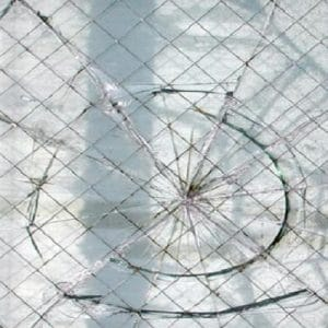Broken wired mesh security glass Replacement