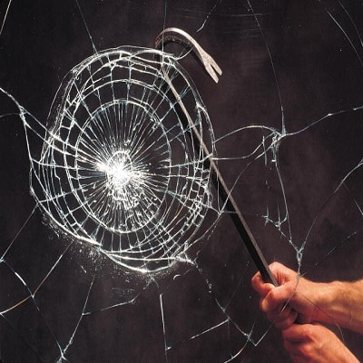 Burglar resistant laminated glass